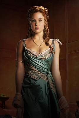 Anna Hutchison as the Roman, Laeta.