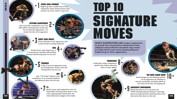 The WWE Book of Top 10 Signature Moves