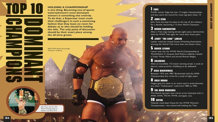 The WWE Book of Top 10 Dominant Champions