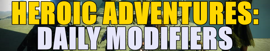Heroic Adventure Modifiers