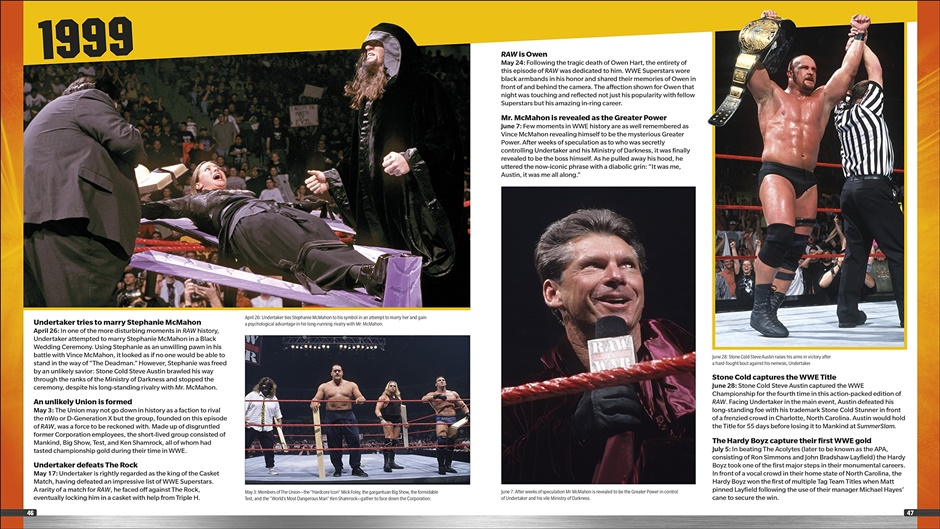 WWE RAW 25 book