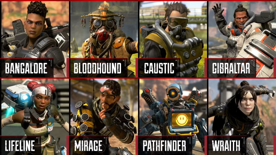 Apex Legends Character Roster