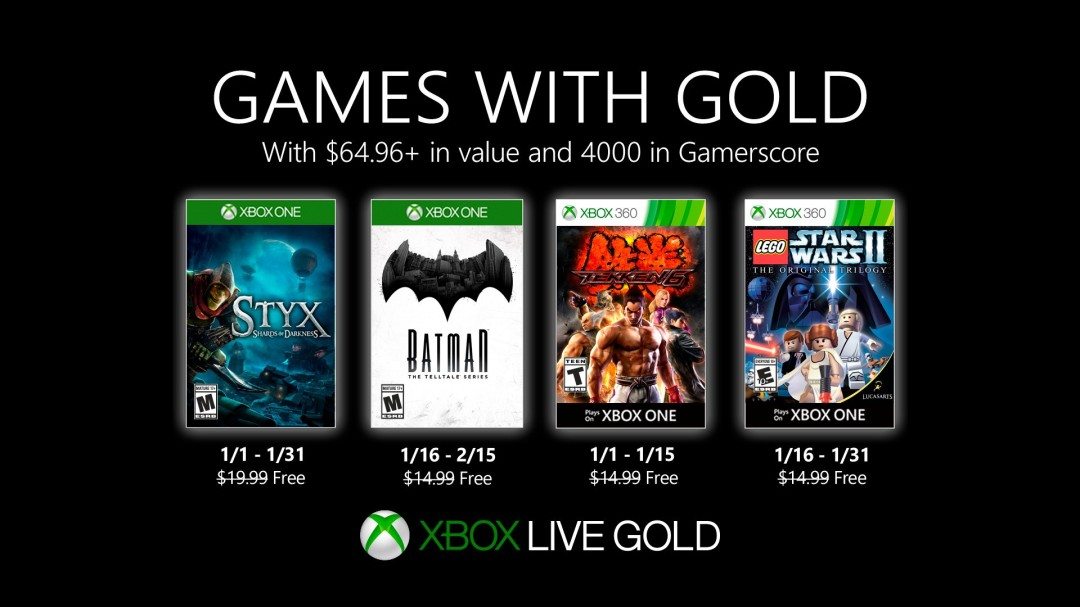 Games With Gold January 2020