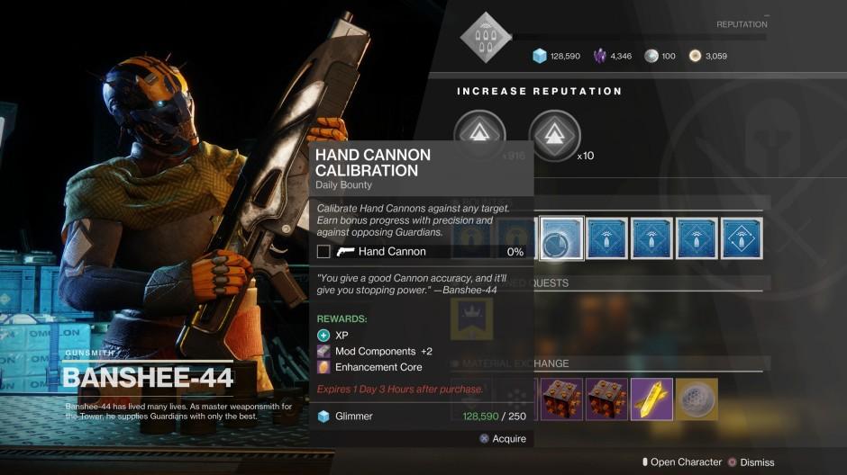 Destiny 2 Gunsmith Bounties