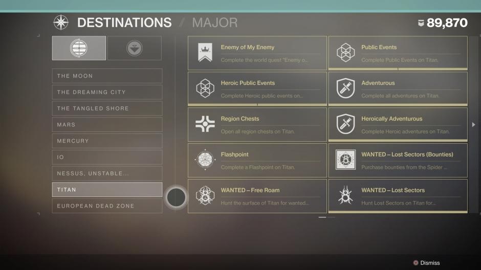Destiny 2 Triumph Destinations
