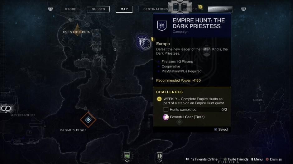 Empire Hunt Challenge Node