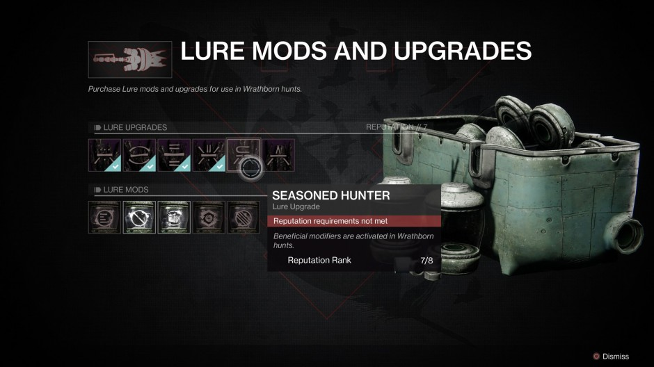 Cryptolith Lure Mods and Upgrades