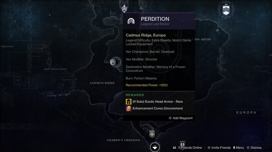 Perdition Lost Sector