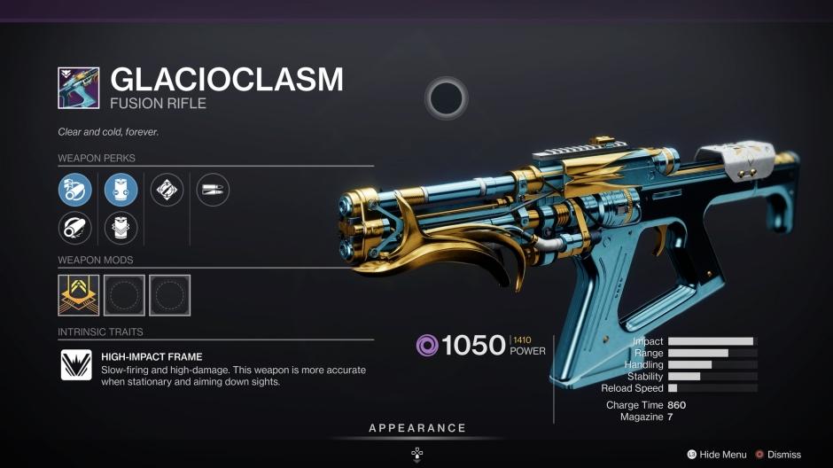 Destiny 2 Glacioclasm The Dawning