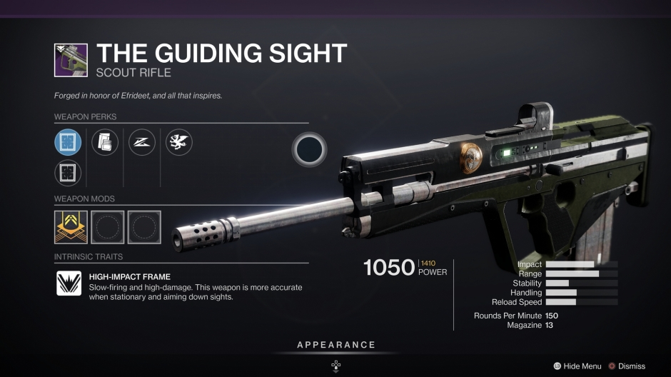 The Guiding Sight Destiny 2 Iron Banner