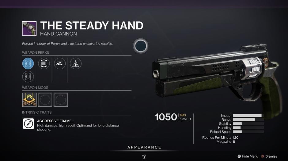 Destiny 2 The Steady Hand Iron Banner